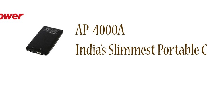 Asia Powercom launches AP-4000A India's slimmest portable charger