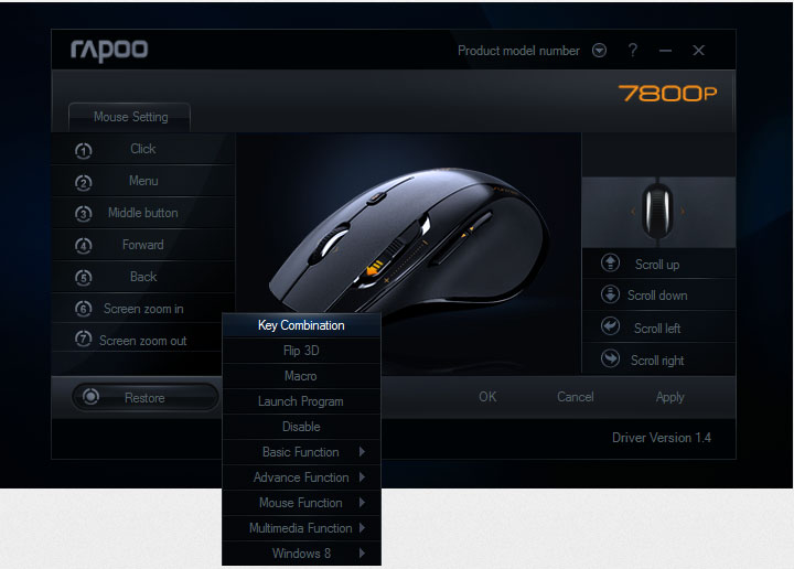 rapoo-7800p-mouse-custom-setting