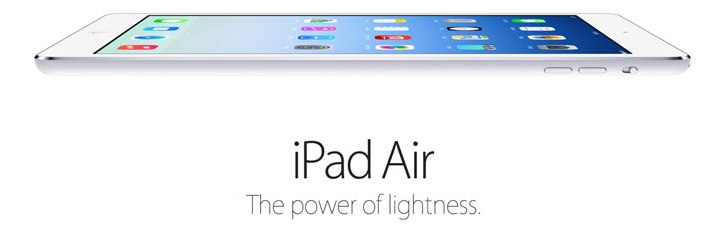 iPad Air, the 4th generation tablet comes with a 9.7″ Retina display and is much thinner, lighter