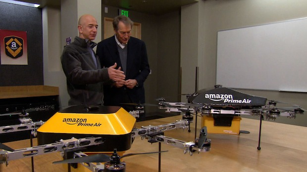 Amazon plans to use drones to deliver packages in 30 minutes