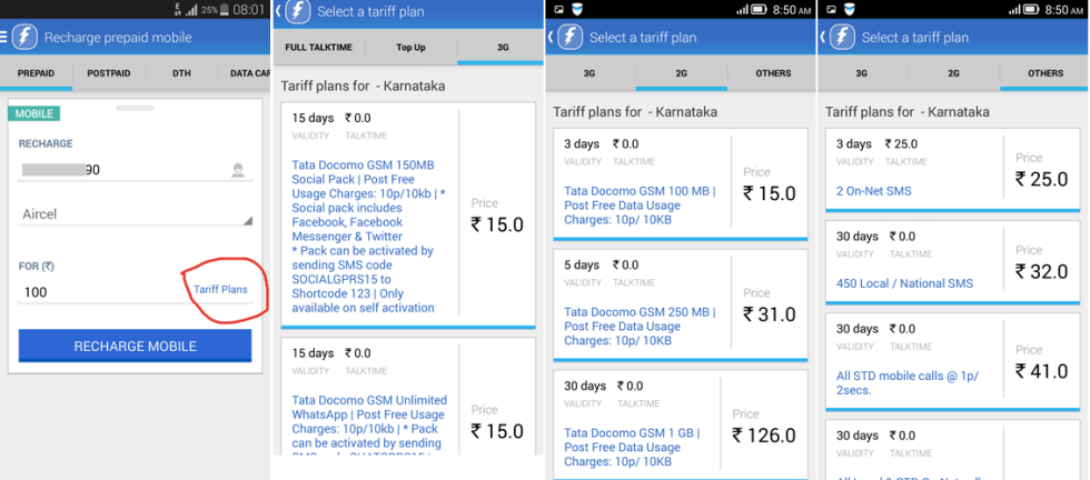 freecharge-tariff-plans