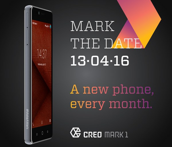 CREO Mark 1 promising monthly features to be launched on 13th of April