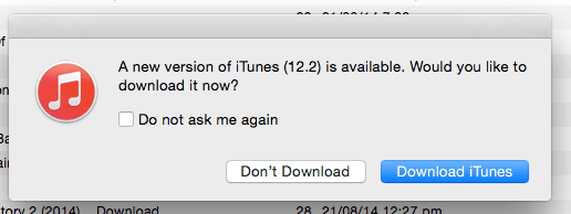 Update iTunes on the Mac 4