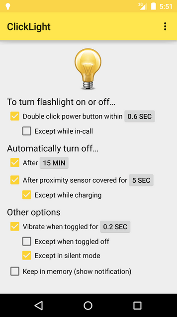 ClickLight Flashlight APK 2