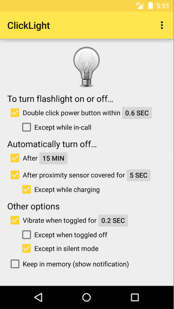 ClickLight Flashlight APK 3