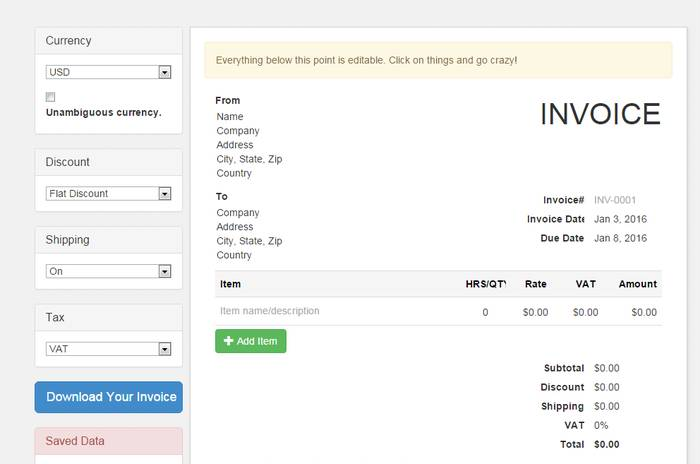 9 Best Online Invoice Creator to Generate Free Invoice Online - free simple invoice software