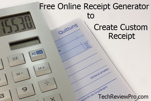 Top 10 Free Online Receipt Generator to Create Custom Receipts - free online invoice maker