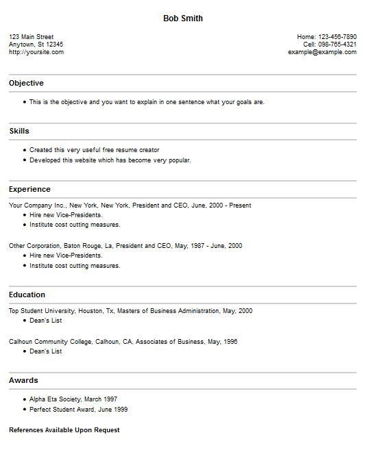 TOP   Resume Builders