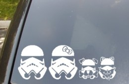 Stormtrooper stickers for your car