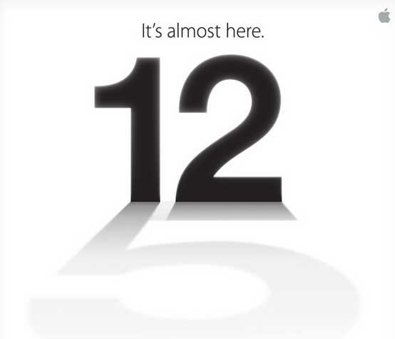 Apple iPhone 5 event announcement
