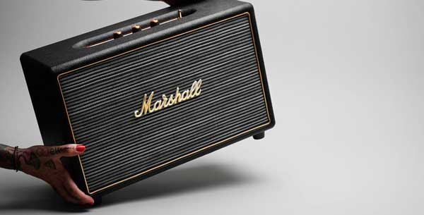 Marshall Hanwell speaker, in hand