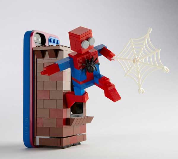 Lego Belkin iPhone case, Spiderman