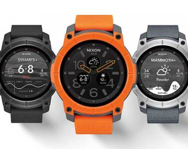 Nixon Mission smartwatch colour range