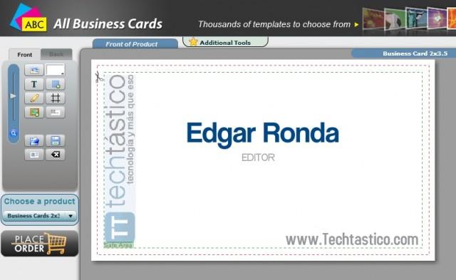 Diseña tus tarjetas de presentación con AllBusinessCards