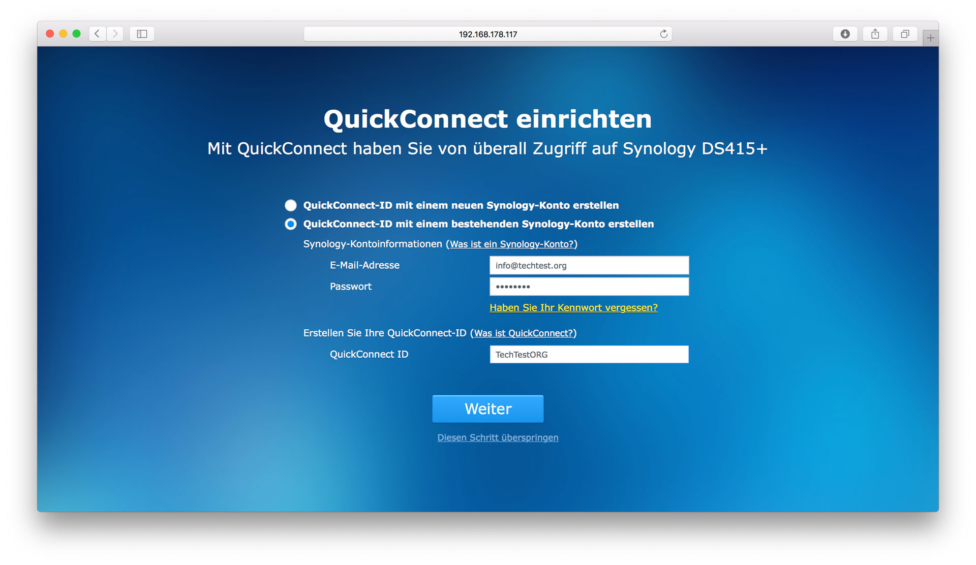 Einrichten Quickconnect Das Synology Ds415 43 Nas Im Test Techtest
