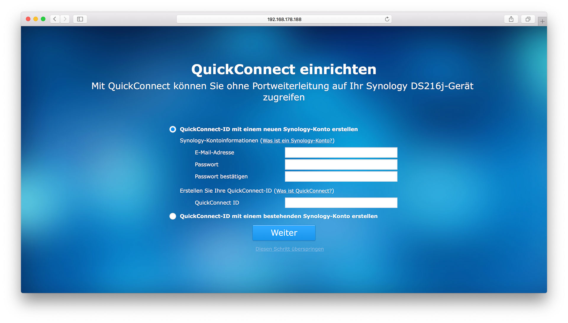 Einrichten Quickconnect Die Synology Diskstation Ds216j Im Test Techtest