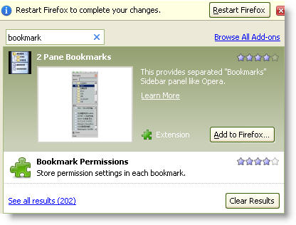 Firefox 3 Addon Manager