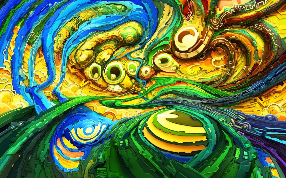 Psychedelic Wall Art - Elitflat