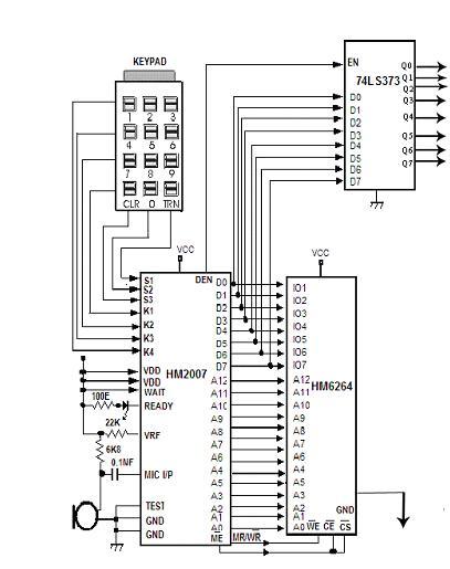 voice recognition application circuit diagram