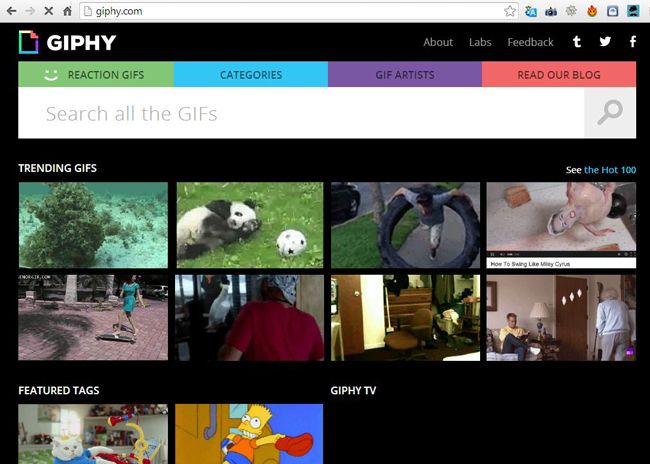 Giphy gif search engine How to Share Animated Gif Images on Facebook