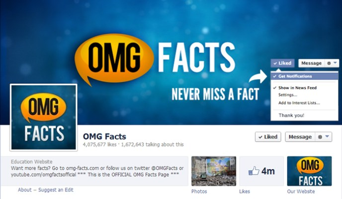 Omg facts facebook page Top 10 Popular Pages to Follow on Facebook