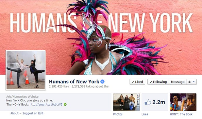 humans of new york Top 10 Popular Pages to Follow on Facebook