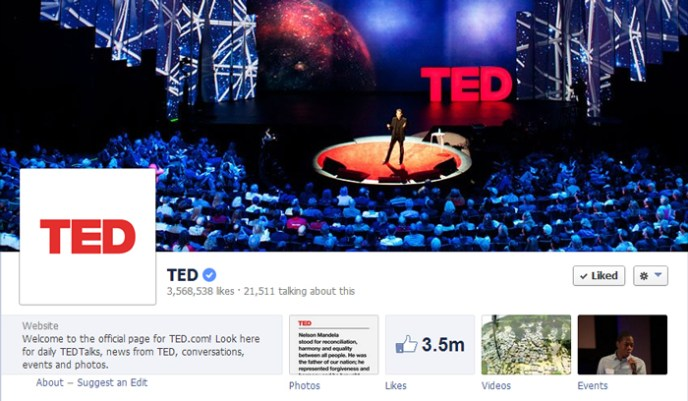 ted facebook page Top 10 Popular Pages to Follow on Facebook