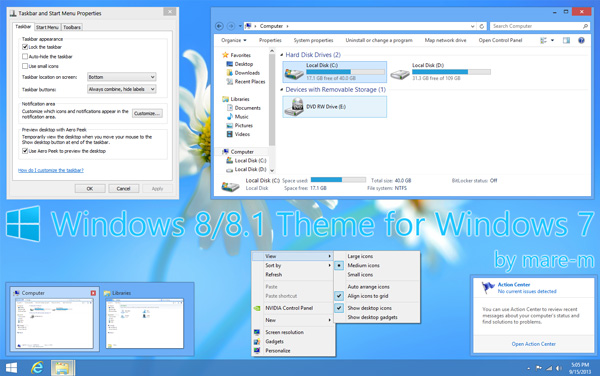 windows 8.1 theme for windows 7 theme 20 Best Windows 7 Themes Collection for your Desktop   February 2014