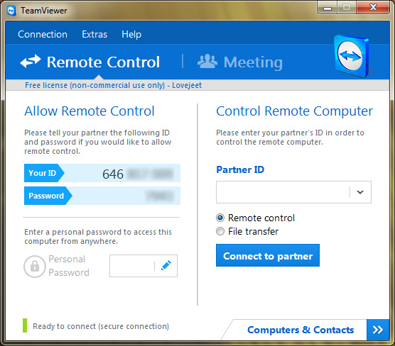 Remotely Shutdown your PC with Teamviewer for Remote Control on Android