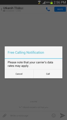 facebook-free-calling-notification-android