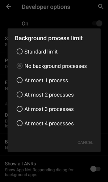 Background process limit 2