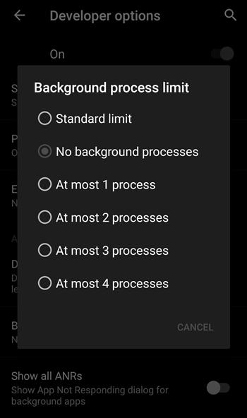 Background process limit 2