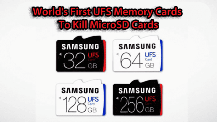 Samsung Introduces The World's First UFS Memory Cards To Kill microSD Cards