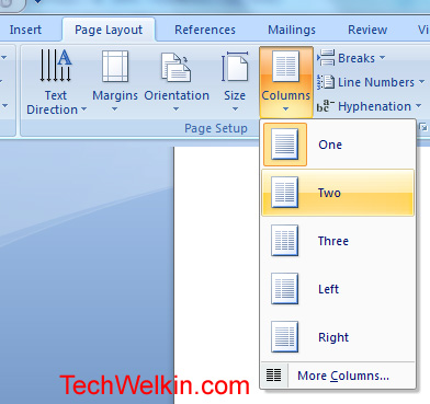 MS Word How to Make Two Column Text Document
