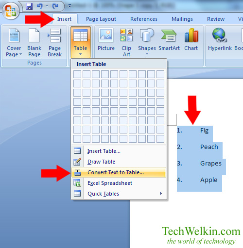 MS Word How to Reverse a List (Order or Sequence Reversal)