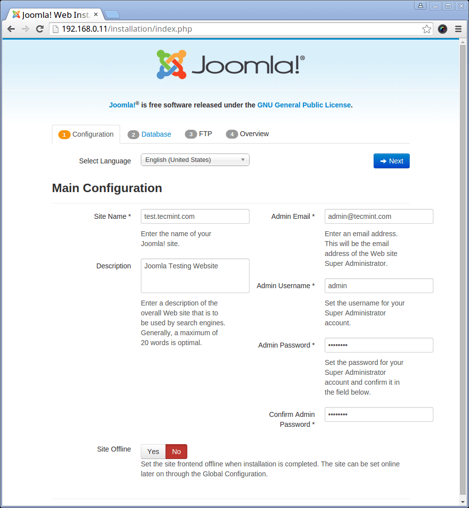 Centos Lamp Install Joomla 3 6 Using Lamp Linux Apache Mysql Php On Rhel