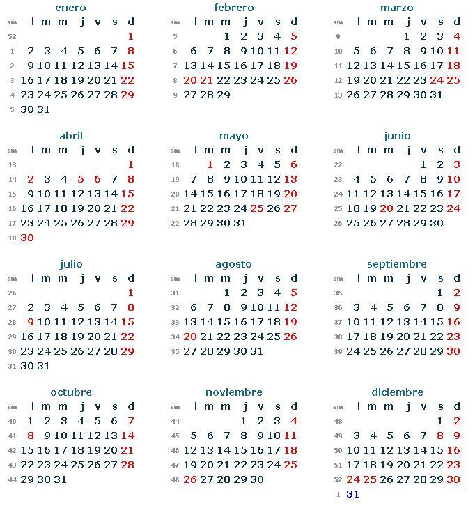 Calendario 2012 y Los Feriados - Info en Taringa!