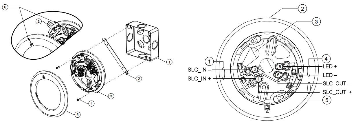 aro diagrama de cableado de la caja