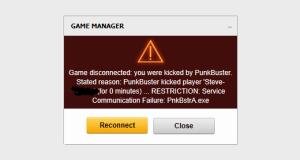 Punkbuster error battlefield 3