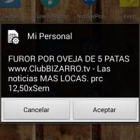 Desactivar los mensajes SIM (SPAM) de Personal