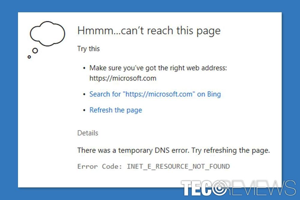 How to fix inet_e_resource_not_found error? TecoReviews