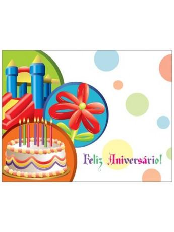 Postal Feliz Aniversário - Tecto de Nuvens - Edição de Livros, Artes