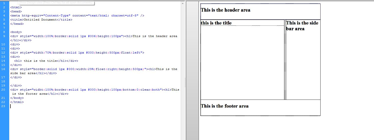 how to give markup to article tag in html