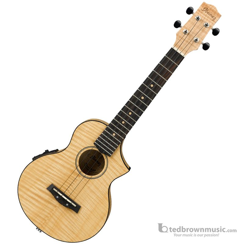 Ew Series Ted Brown Music Ibanez Uew12e Flamed Maple Ew Series Concert Ukulele