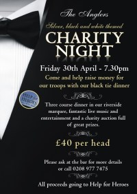 Charity black-tie event at the Anglers  Teddington ...
