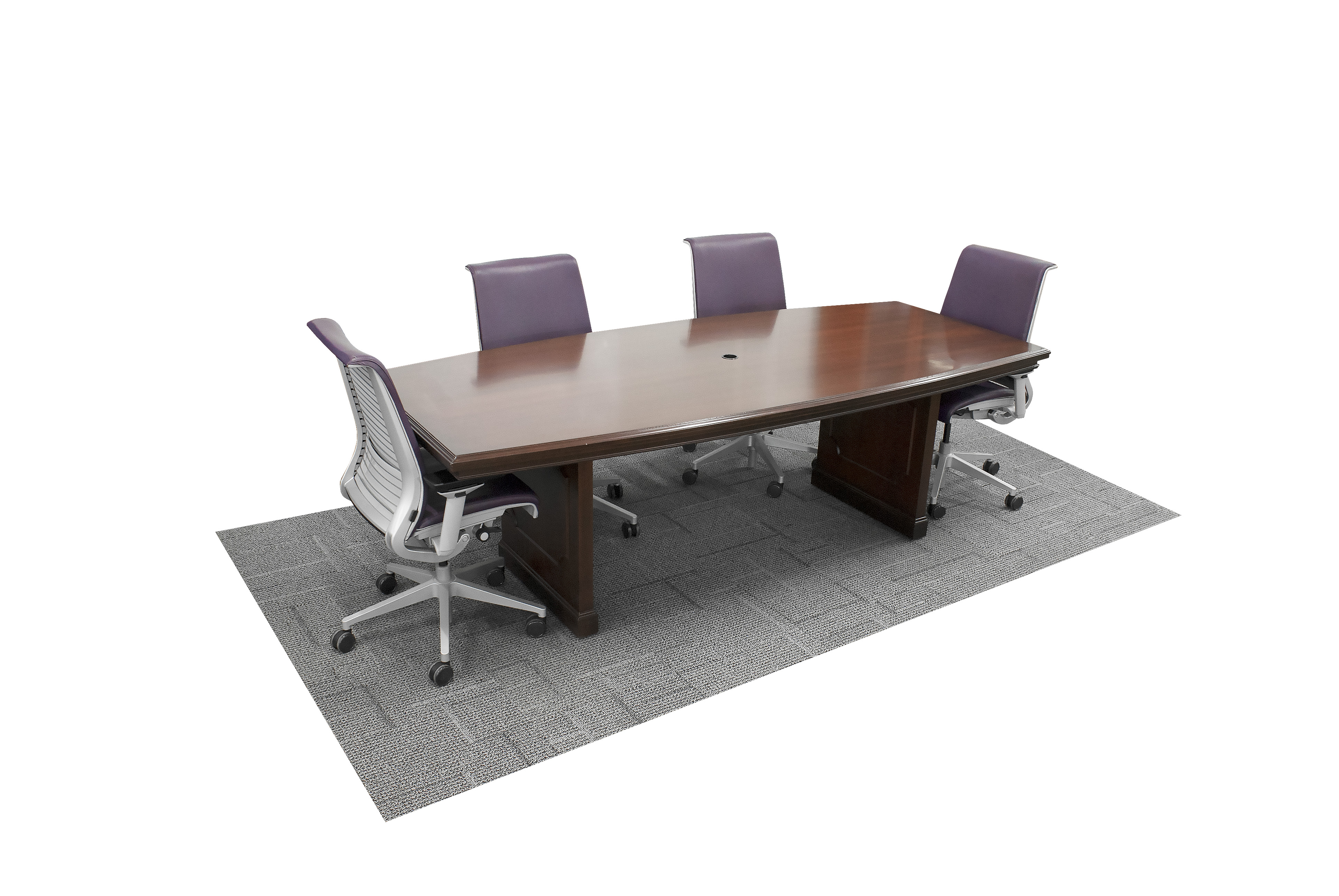 Long Wood Desk 8 Traditional Wood Boat Shaped Conference Table