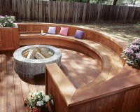 Fire pit wood deck protection | Deck design and Ideas