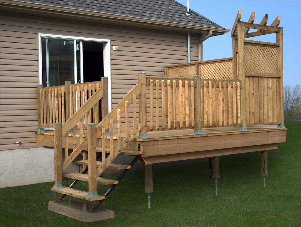 Store Exterieur Rona Deck Foundation Spikes Deck Design And Ideas