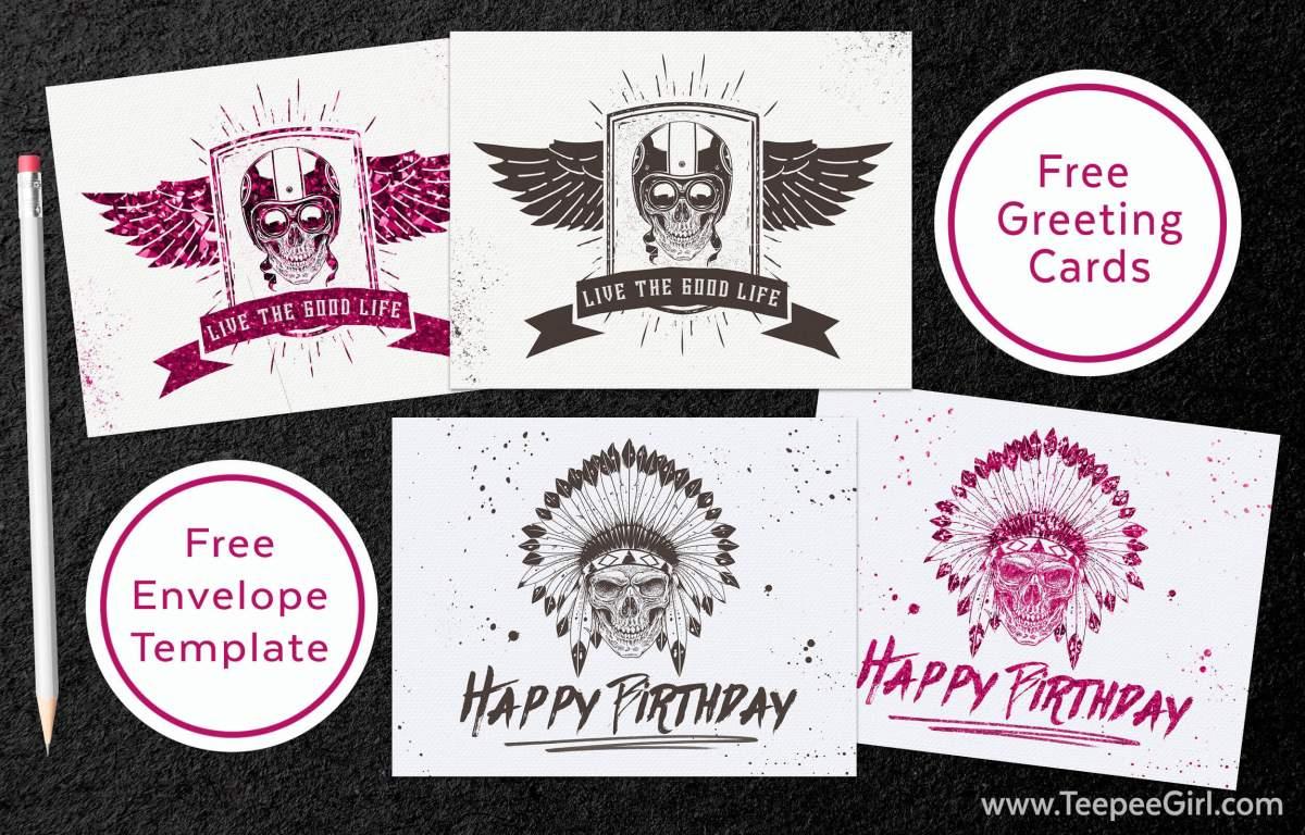 Free Skull Greeting Cards