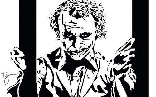 joker stencil art - Akbagreenw